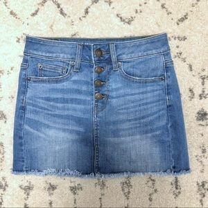 American Eagle Button-Fly Denim Skirt